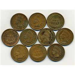 10 US Indian Cent Coin Lot (COI-000257C)