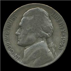 1943P/D/S Jefferson Silver WAR Nickel Set (COI-004983A)