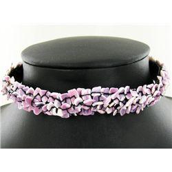 Crocheted Shell Choker Necklace (JEW-004314)