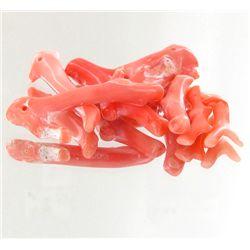 50ct Scarce Taiwan Salmon Pink Natural Coral Parcel (MIN-001060)