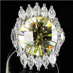 43.62twc Yellow Lab Diamond White Gold Vermeil/925 Ring (JEW-003964)