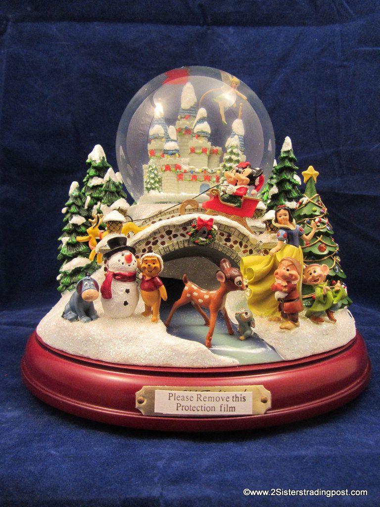 Disney Christmas Snow Globes.Disney Christmas Globe Bradford Exchange Nib