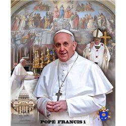 Wishum Gregory Pope Francis I Portrait Print