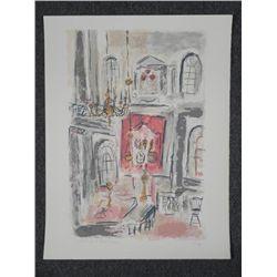 Schyreyer Signed Proof Art Print Palace Interior