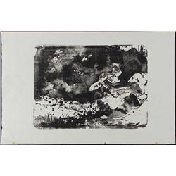 Betty Heredia Orig Woodcut Block Print Sea Movement II