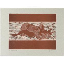 Jack Woodcut Erotic Art Print Proof Japanese Style