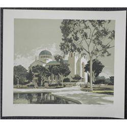 Merv Corning Signed Artist Proof Print Church Monastery