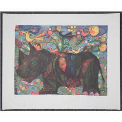 Judith Bledsoe Signed Art Proof Print George The Rhino