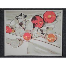 Lowell Nesbitt Signed Artist Proof Print Light Bulbs