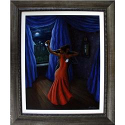 Answerd Stewart: This Moment Framed Acrylic on Canvas