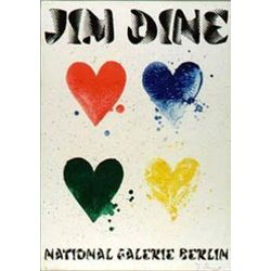 Jim Dine Four Hearts Signed Art Print