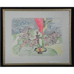 Roberto Matta Signed Art Print Framed