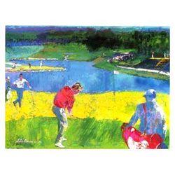 Mystic Rock Signed LE Golf Art Signed LeRoy Neiman 1996