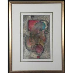 Eric Waugh Original Mixed Media Art Ling A1 Framed