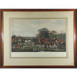 Antique Print Sir Richard Sutton & Quorn Hounds -Frmd
