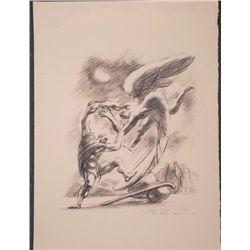 Nathan Rapoport Signed Artist Proof Print -Angel & Man