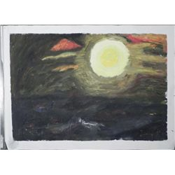 Maestro Tanjianji Original Painting on Canvas -Moon
