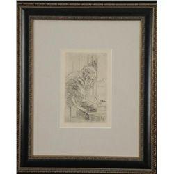 Pierre Bonnard Art Print Framed Man Writing