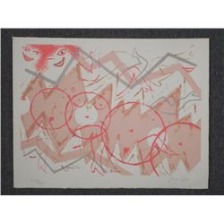 Cohen Signed Artist Proof Print Abstract Nudes