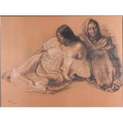 Francisco Zuniga Art Print Mother & Daughter in Repose