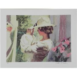 William Chambers Signed AP Art Print Lady w/Hat