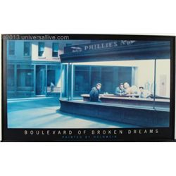 Boulevard Of Broken Dreams Helnwein / Hopper Art Print