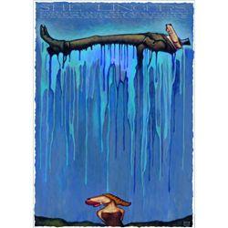 Markus Pierson 'She Lingers' Silkscreen