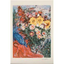 Marc Chagall : Le Soucis Flowers Art Print
