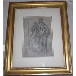 Constantin Guys Original Drawing Crimean War Framed
