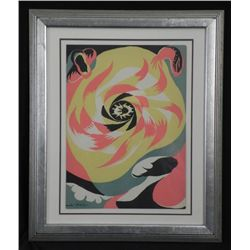 Andre Masson Original Litho Soleil Art Print Framed