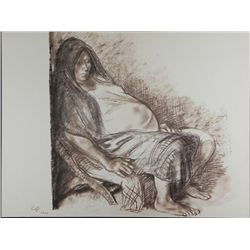 Francisco Zuniga Print Pregnant Woman- 20 Dibujos, 1973