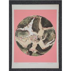 Marcia Marx Signed Proof Art Print Ring Around the Rosy