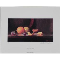 William Chambers Signed AP Art Print Still Life Oranges