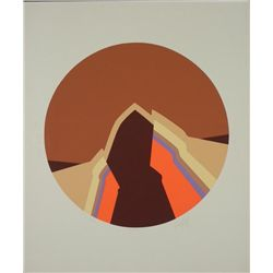 Doug Danz Signed Abstract Mountains Print Proof Terra V