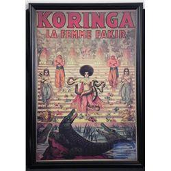 Koringa La Femme Fakir Circus Enchantress Large Poster