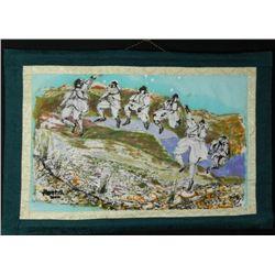Betty Snyder Rees Orig Batik Fabric Painting Dancers