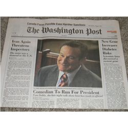Robin Williams Man of the Year Prop Newspaper