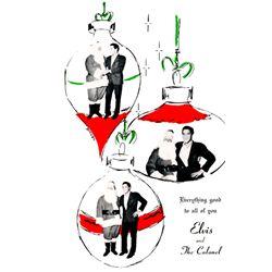 Elvis Presley Colonel Parker 1950s Original Christmas Postcard