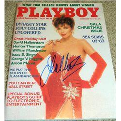 Joan Collins Signed December 1983 Playboy Magazine
