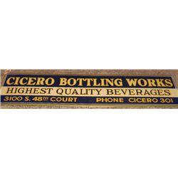 Al Capone Cicero Bottle Works Original Sign