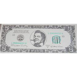 Back the the Future II Prop $5.00 Biff Bill