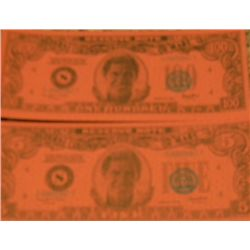 Total Recall Set of Two Prop Currency Bills