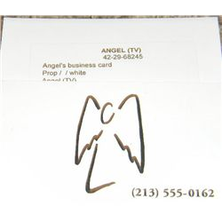 David Boreanaz Prop Business Card from the Series Angel