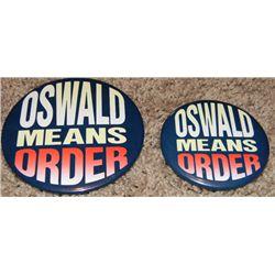 Batman Returns Set of Prop Oswald Campaign Buttons