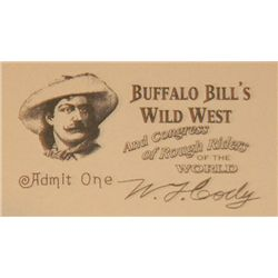 Back the the Future III Prop William F. Cody Wild West Show Ticket