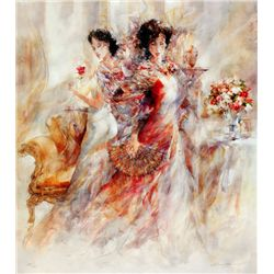 Gary Benfield, La Promenade II, Signed Canvas Print