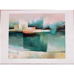 Claude Gaveau, Reflect, Signed Lithograph