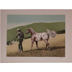 Mel Hunter, Appaloosa, Signed Lithograph