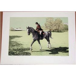 Mel Hunter, Saddlebred, Signed Lithograph