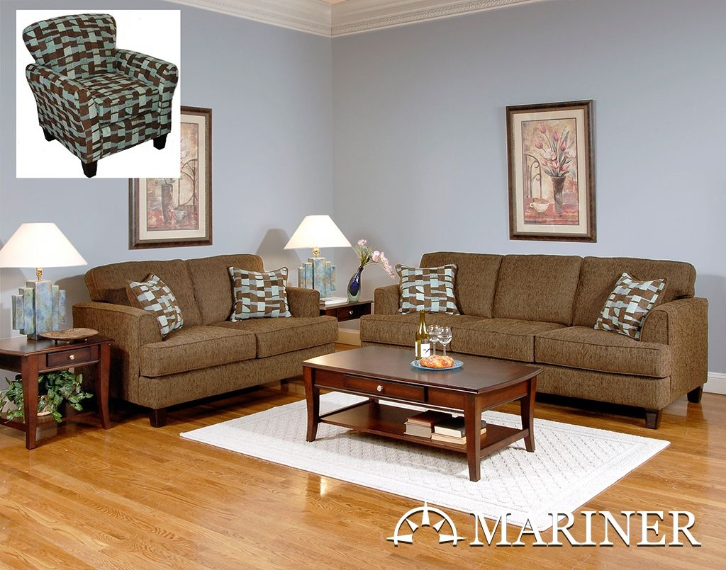 3 Piece Sofa Set Including Sofa Cuddle Chair Accent Chair